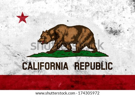 Grunge California State Flag - stock photo