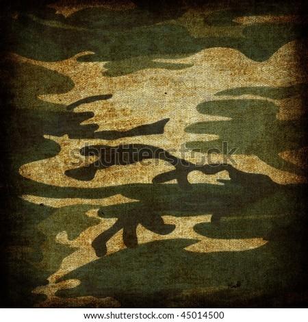 Grunge camouflage - stock photo