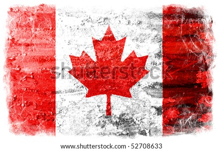 Grunge Canada flag - stock photo