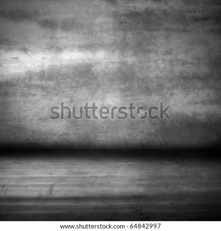 grunge cement room - stock photo