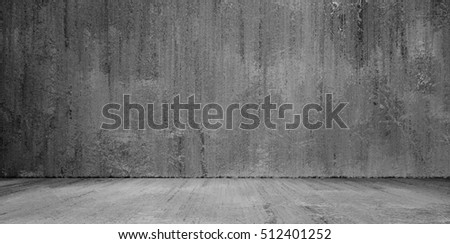 Grunge cement wall and floor background