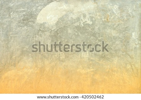 Grunge cement wall with flooding track - stock photo