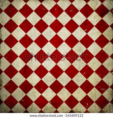 grunge checkered background - stock photo
