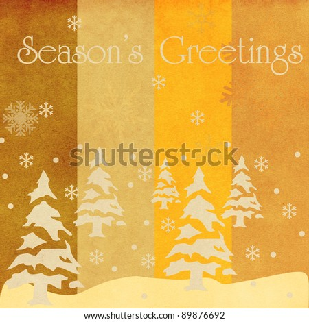 grunge christmas card - stock photo