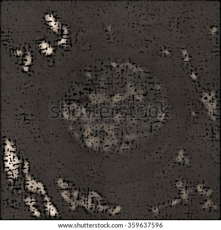 Grunge circular abstract form. abstract planet. - stock photo