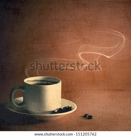 Grunge coffee poster - stock photo