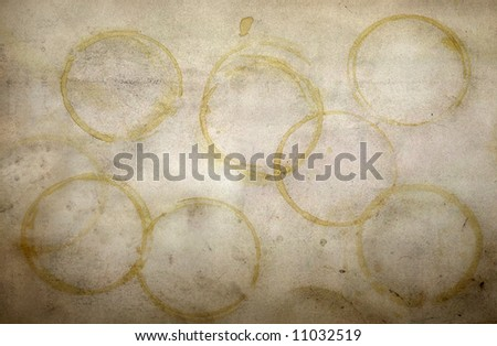 grunge coffee stains texture - stock photo