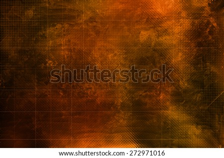Grunge collage with scratches ad line patterns - stock photo