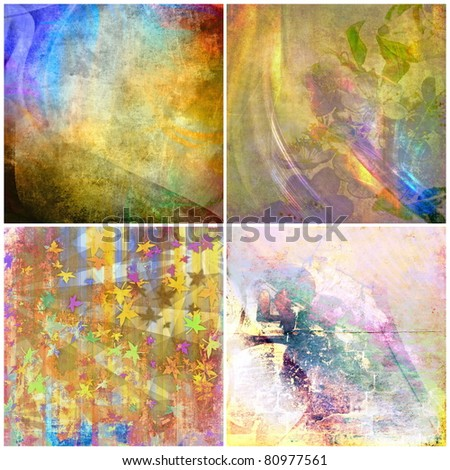 Grunge color backgrounds set, collection - stock photo
