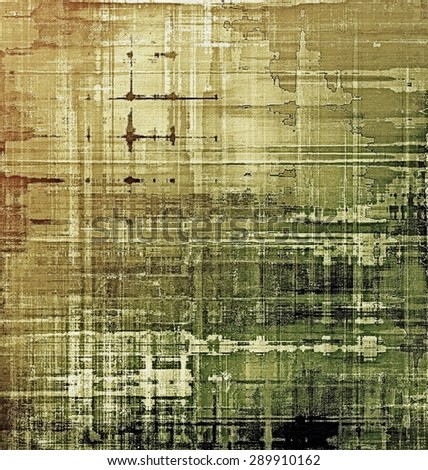 Grunge colorful background or old texture for creative design work. With different color patterns: yellow (beige); brown; green; black - stock photo