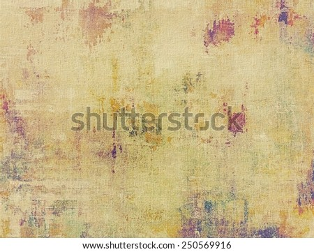 Grunge colorful texture for retro background. With different color patterns: yellow (beige); brown; gray; purple (violet) - stock photo