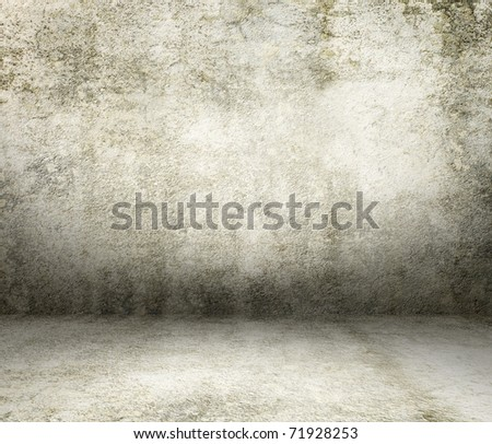 Grunge concrete interior - stock photo