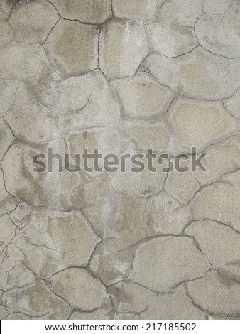 grunge crack cement wall texture - stock photo