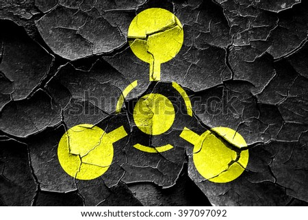 Grunge cracked Chemical weapon sign - stock photo