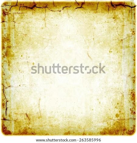 Grunge cracked sepia background - stock photo