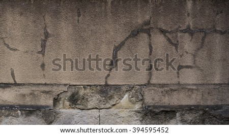 Grunge Cracked Wall in Gray