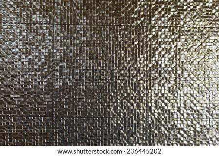 Grunge dark gray tiled background - stock photo