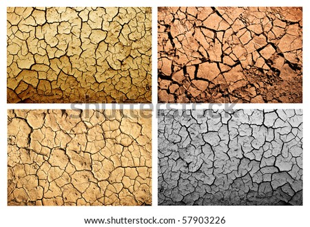 Grunge dirty and crack background set - stock photo
