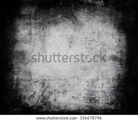 Grunge Distressed Texture With Faded Central Area, Scary Halloween Background
