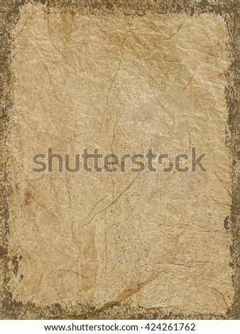 Grunge edges added to brown textured paper