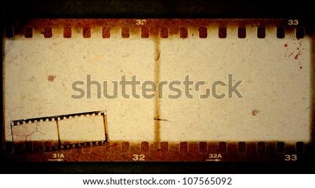 Grunge film frame - stock photo