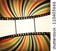 Grunge film strip background. Raster version, vector file available in portfolio. - stock photo
