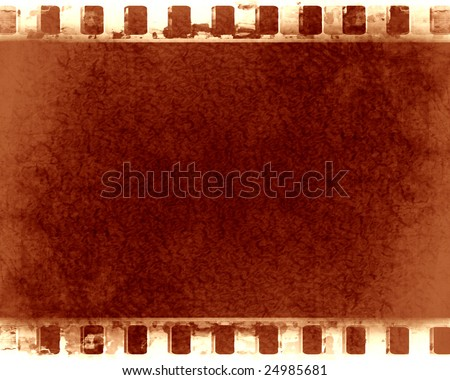 grunge film strip with some damage on it