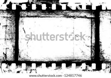 grunge filmstrip, may be used as a background, design element - stock photo