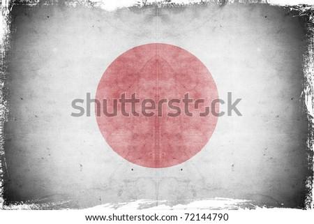 Grunge flag japan - stock photo