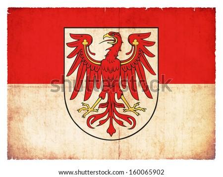 Grunge flag of Brandenburg (Germany) - stock photo
