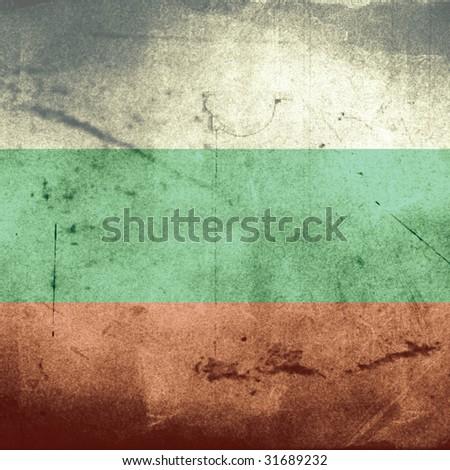 grunge flag of bulgaria - stock photo