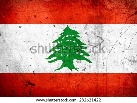 grunge flag of Lebanon