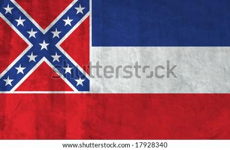 Grunge Flag of Mississippi - stock photo