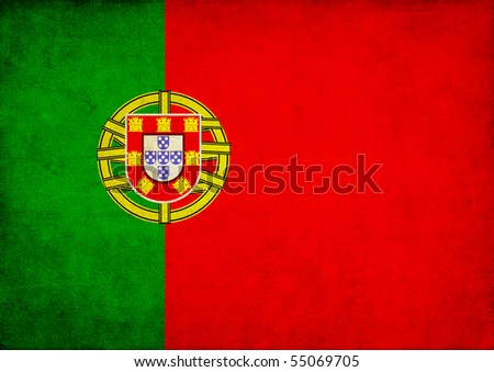 Grunge Flag of Portugal - stock photo