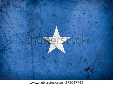 grunge flag of Somalia - stock photo