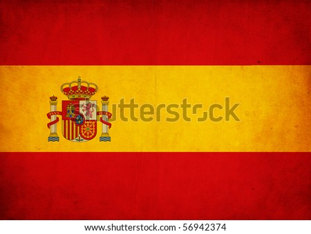 Grunge Flag of Spain - stock photo