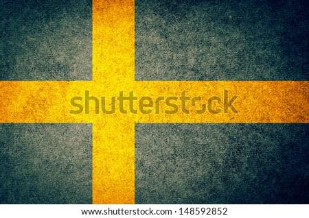Grunge Flag of Sweden - stock photo