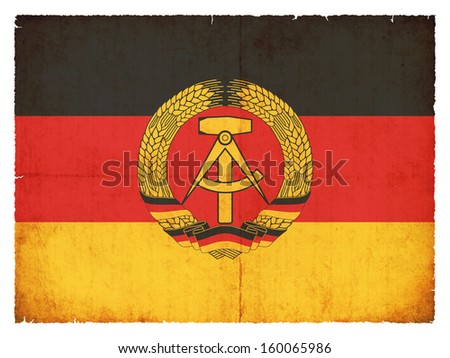 Grunge flag of the German Democratic Republic (DDR) - stock photo