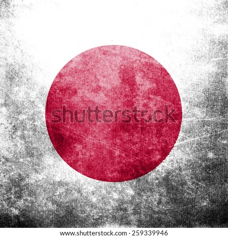 Grunge flag of the Japan - stock photo