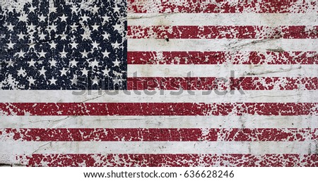 Distressed Flag United States America Eps Stock Vector - How old is the united states of america