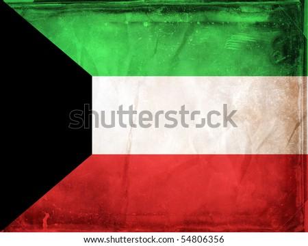 Grunge flag series -  Kuwait - stock photo