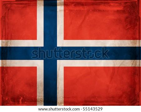 Grunge flag series -  Norway - stock photo