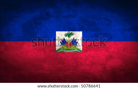 Grunge flag series of all sovereign countries - Haiti