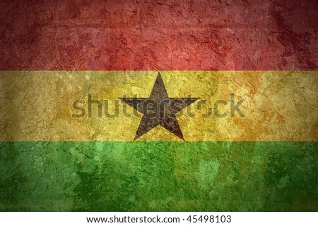 Grunge flags texture of Ghana - stock photo