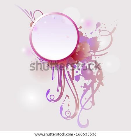 Grunge frame with colorful splashes.  - stock photo