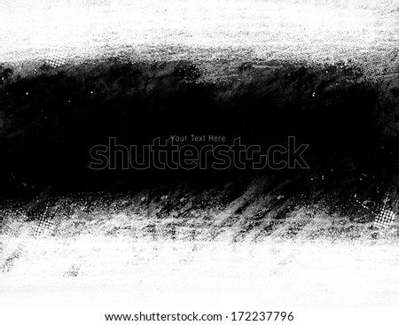 Grunge Frame With White Space - stock photo