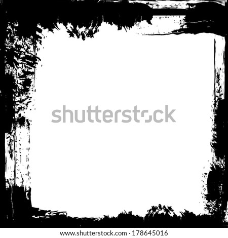 Grunge frame with white space.