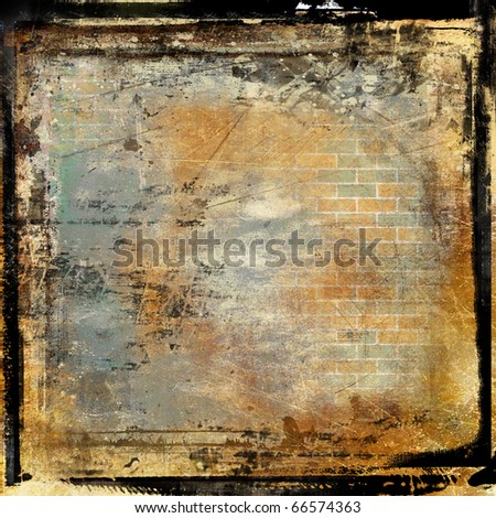 grunge framed film background - stock photo