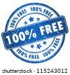 Grunge free stamp - stock vector