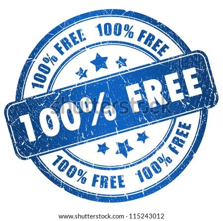 Grunge free stamp - stock photo